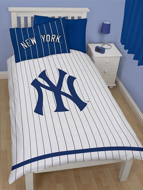 new york yankees bedding new york yankees single duvet quilt cover kids major league baseball bedding set ebay