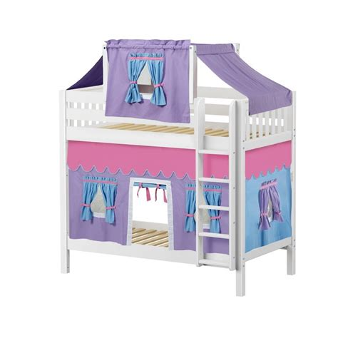 bunk bed tents and curtains maxtrixkids alto27 ws high bunk bed with straight