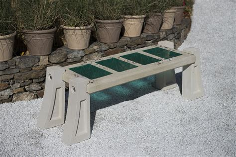 concrete garden bench mold skylight bench in aqua by terence s dubreuil concrete