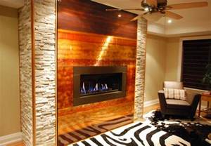 oakville custom copper fireplace feature modern living
