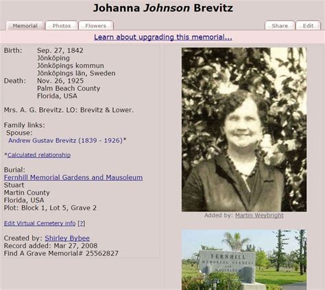 Find A Grave Find A Grave Familytree