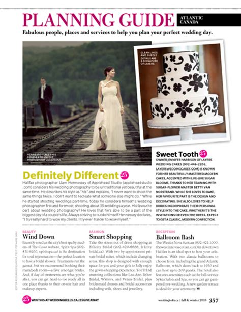 Wedding Bell Magazine Canada by Media Layers Cakes