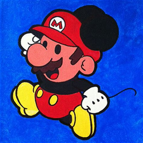 Surpet Mickey Mouse mickey mario mouse acrylic by babyvtec trt library