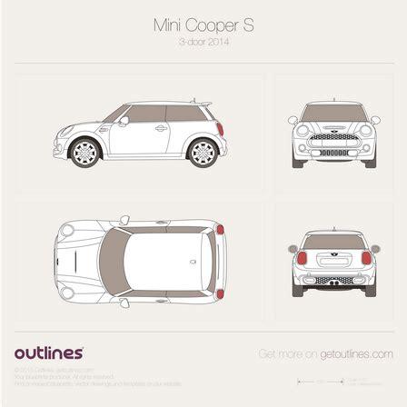 Mini Blue Print 2014 Mini Cooper S Blueprints Outlines