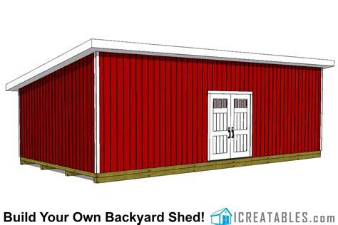 lean  shed plans large lean  shed plans