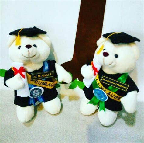 Teddy Kuning Hitam 8199m teddy boneka wisuda unimus kado wisudaku