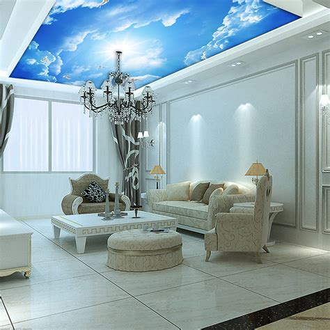 interior design living room wallpaper contemporary living room interior design ideas with blue sky ceiling wallpaper iwemm7