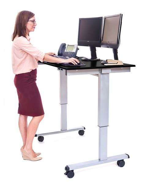 stand up desk exercises the best standing desks with wheels for every budget