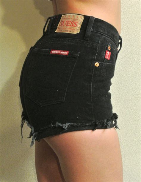 Dress Black Studed Guess Branded Murah high waisted studded shorts size 0 1 black guess cutoffs