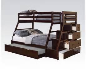 Bunk Bed With Trundle Bed Jason Bunk Bed With Trundle Espresso Loft Bunk Beds Af 37015 9