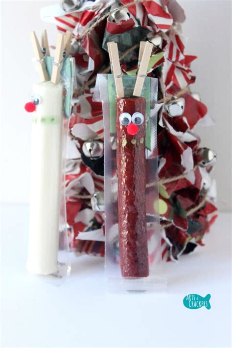Pom Pom Craft For Kids - 5 beef stick string cheese christmas snack ideas