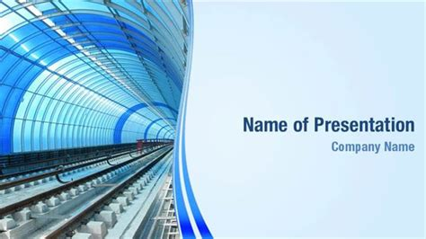 rails templates metro rail tunnel powerpoint templates metro rail tunnel