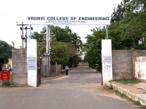 Mba Lecturer In Hyderabad Engineering Colleges by Vasavi College Of Engineering Vce Hyderabad Faculty
