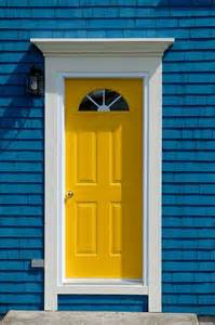 yellow front door outdoor