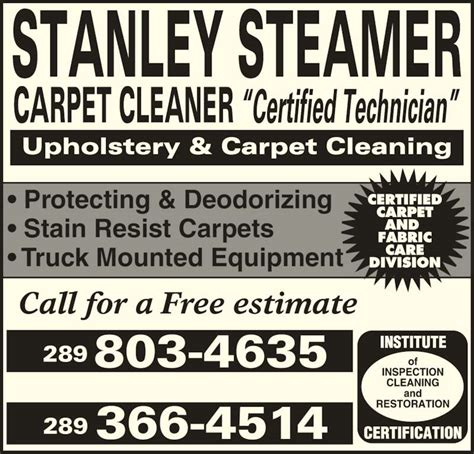 stanley steamer rug cleaning stanley steamer carpet cleaner queensville on 6 morton ave canpages