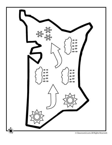 weather coloring page free weather color pages coloring home