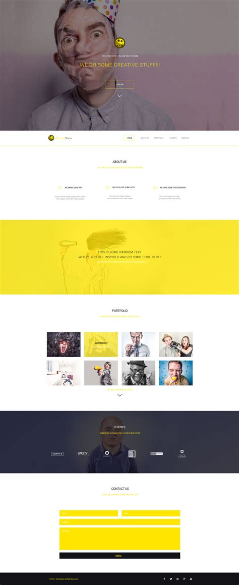 yellowmoon free psd landing page template free html5