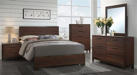 edmonton rustic tobacco platform bedroom set 204351q