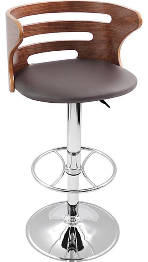wood and chrome bar stools modern walnut wood chrome hydraulic bar stool