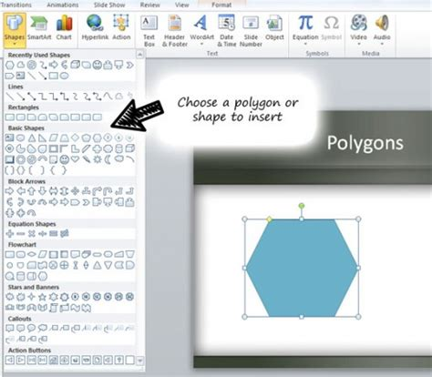 How To Add Template In Powerpoint Create Polygons In Powerpoint Using Shapes