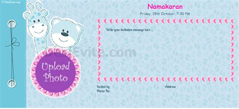 Invitation Letter Format For Baby Naming Ceremony Free Naming Ceremony Namakaran Invitation Card Invitations