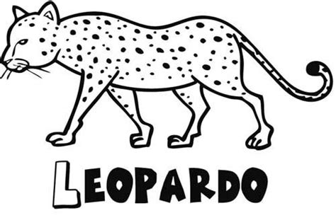 imprimir leopardo dibujos  colorear