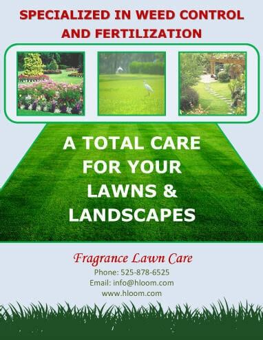 Landscaping Advertising Ideas 15 Lawn Care Flyers Free Exles Advertising Ideas
