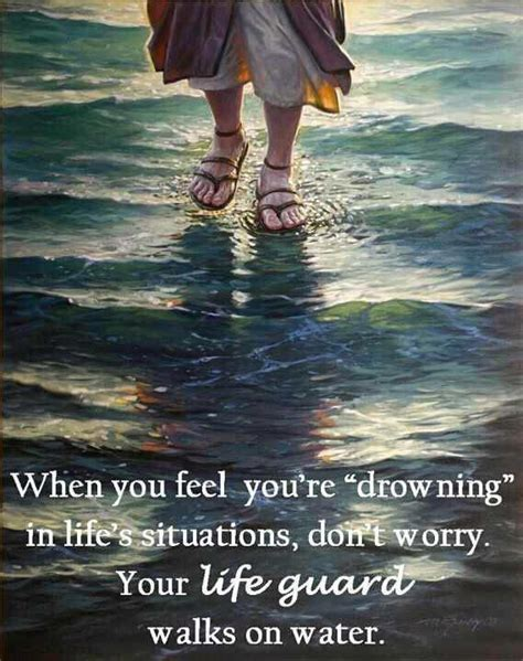 my god walks on water what to tell the storm because of grace