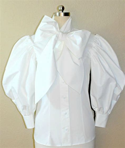 Blouse Jumbo Zara Puff By Enter 3 4 sleeve bow blouse with large bow tie
