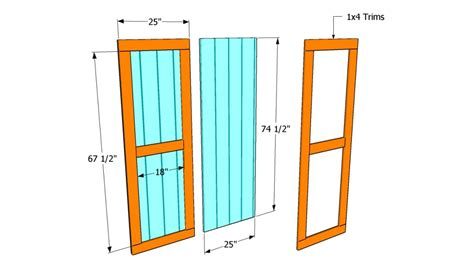 Framing Shed Door by How To Build Shed Doors Howtospecialist How To