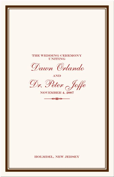 Jewish Wedding Program Jewish Wedding Ceremony Program Jewish Marriage Ceremony Program Bar Bar Mitzvah Service Program Template