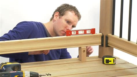 installing a stair banister how to install a rail simple traditional deck railing kit