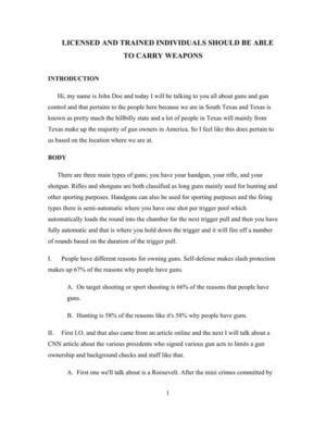 Gun Control Speech Examples • My Speech Class