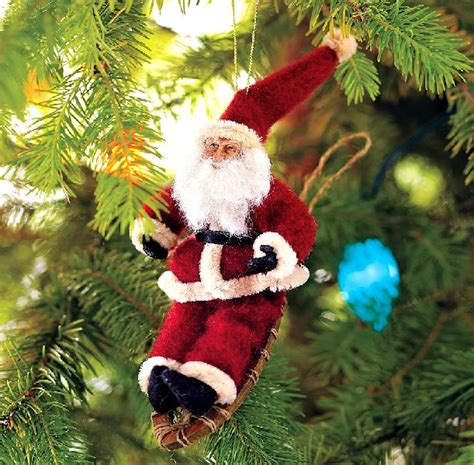 santa claus christmas tree ornaments christmas