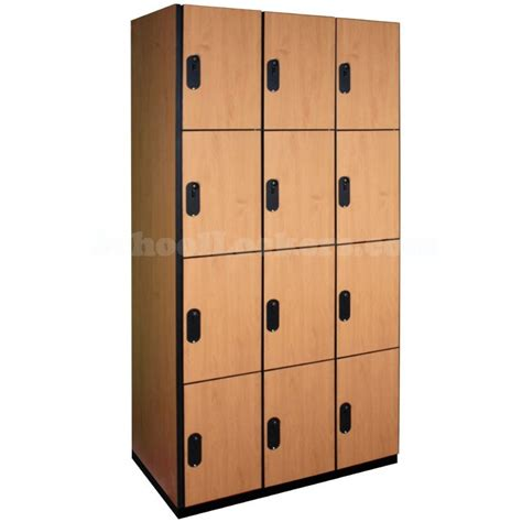 four tier wood lockers schoollockers