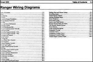 2009 ford ranger wiring diagram manual original