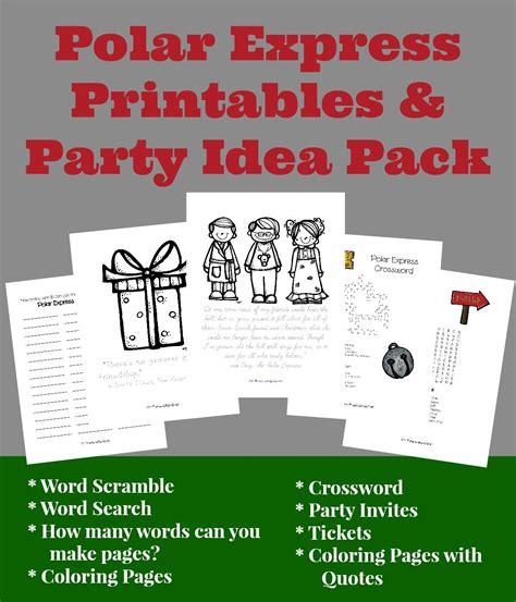 printable polar express tickets kindergarten free polar express printables and party ideas fun