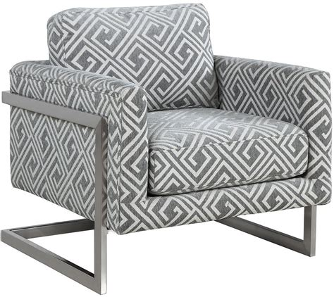 Grey And White Accent Chair by White And Grey Upholstered Accent Chair 902786 Coaster