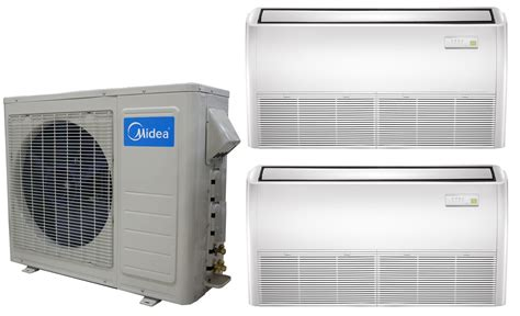 Ac Multi Split midea dual zone 12k ceiling cassette mini split heat ac