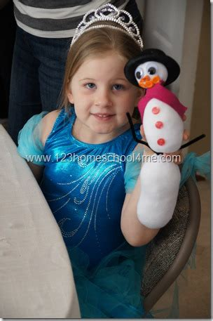 Elsa Sock Snowman Disney Frozen Birthday