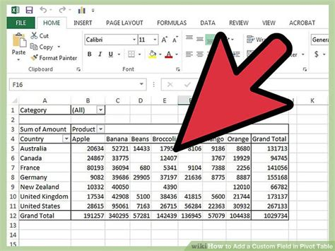how to add pivot table in excel how to add a custom field in pivot table 9 steps with