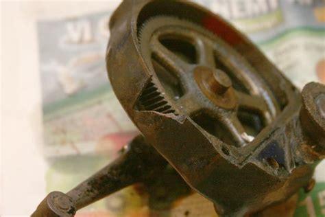 hand bench grinder hand powered vintage bench grinder restore by mafe lumberjocks com woodworking