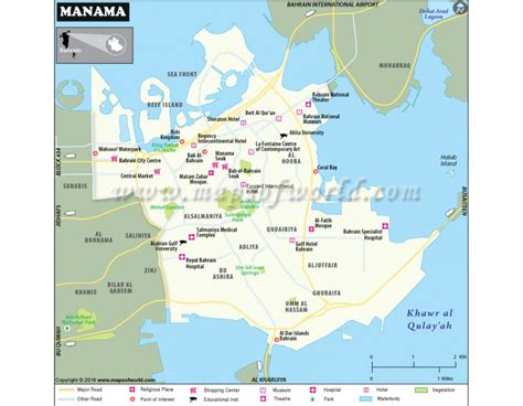 bahrain map with cities buy manama map