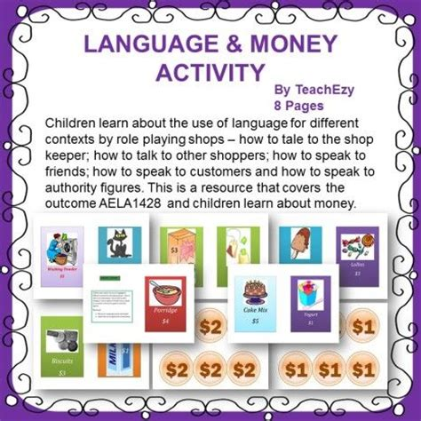 Win The Money Game - the language of money activity lesson win the money game