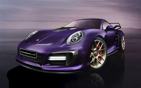 gemballa avalanche gemballa avalanche porsche 991 turbo purple pavement