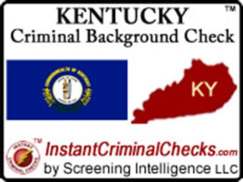 Criminal Background Check Kentucky Kentucky Criminal Background Checks For Pre Employment