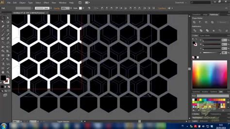 honeycomb pattern ai free simple tutorial how to make a hexagon pattern honeycomb