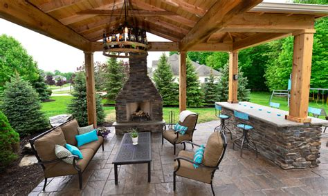 backyard patio pavilion rustic patio cleveland