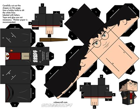 Hp Papercraft - fold your own cube characters wars doctor who