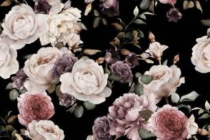 purple and pink dark floral wall mural murals wallpaper